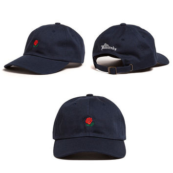 Navy Blue The Hundreds Rose Strap cotton cap Adjustable Golf Snapback Baseball Hat