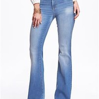 High-Rise Vintage Flare Eco-Friendly Jeans for Women