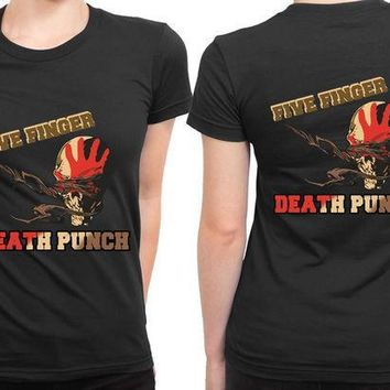 ICIK7H3 Five Finger Death Punch Retro 2 Sided Womens T Shirt