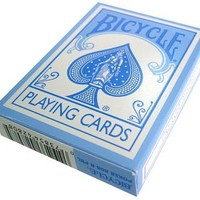 Bicycle Light Blue Pastel Rider Back Playing Cards