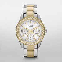 FOSSIL® Watch Collections Stella Watches:Women Stella Stainless Steel Watch - Two-Tone ES2944