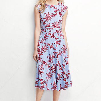 Women's Ponté Flounce Skirt Dress - Pattern from Lands' End