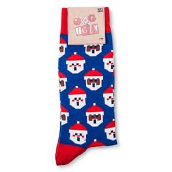 Men's OMG So Ugly Holiday Crew Socks - 6-12