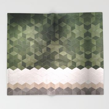 Geometric Pattern Throw Blanket by Salome