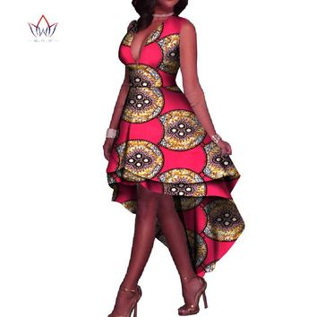 African Dresses for Women V-Neck Sexy Maxi Dress Dashiki