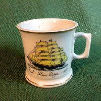Old Shaving Mug - Ariel - China Clipper 1865 - Sailing Ship at Sea - Gold Trim - made in Japan
