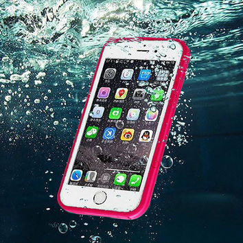 Dustproof Underwater Diving Waterproof 360 Full Cover Phone Cases Cover For iPhone 5S 6 6S 6 Plus 4.7 5.5 inch