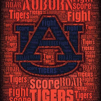 Auburn Tigers Roar 24x18 Football Poster