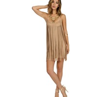 Taupe Fringe Out Tunic