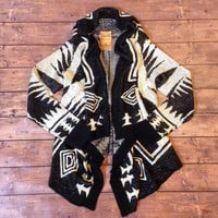 Oh So Cozy Oatmeal Aztec Cardigan