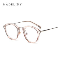 Classic Fashion Women Picture frame Brand Designer Vintage Round Eyeglasses Frame Cat Eye Style Clear Lens Glasses MA199