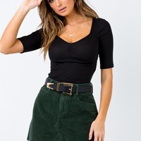 Hallie Cord Mini Skirt Khaki | Princess Polly