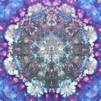 mandala tie dye tapestry or wall hanging in grey purple and blue