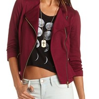 ASYMMETRICAL ZIP MOTORCYCLE BLAZER