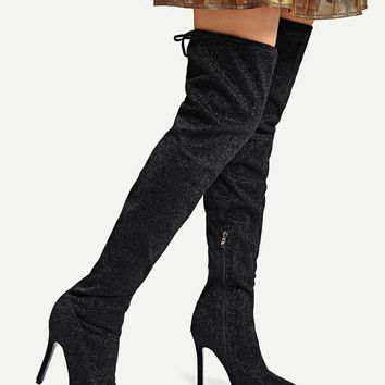 Over The Knee Glitter Boots