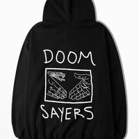 New Arrive Autumn And Winter Fleece Hoodie Men Hip Hop Men Clothing Doom Sayers Print Streetwear Fashion Hoodies Vetement