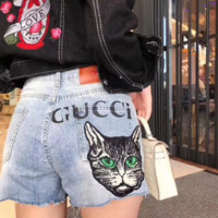 Gucci Woman Fashion A pair of jeans Shorts