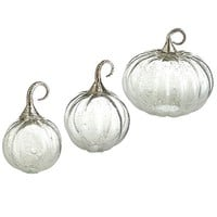 Clear Glass Pumpkins