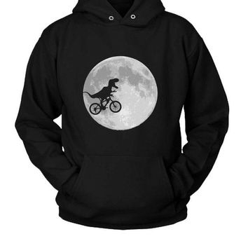 DCCK7H3 Dinosaur Bike And Moon Hoodie Two Sided