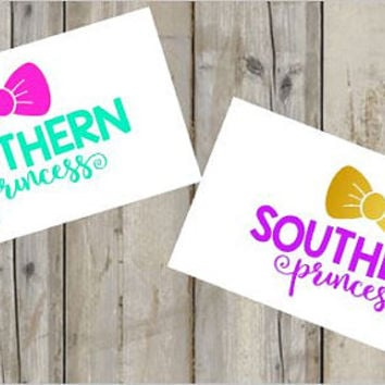 Southern Princess Country Girl Decal for Cars, Trucks, Yetis, and Much More! - Country - Southern Pride - Princess - Decal - Custom - Bow