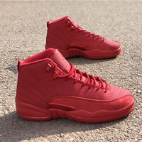 Air Jordan Retro 12 Red Bulls Basketball Shoes Men Women 12s Red Bulls Sneakers High Quality With Shoes Box