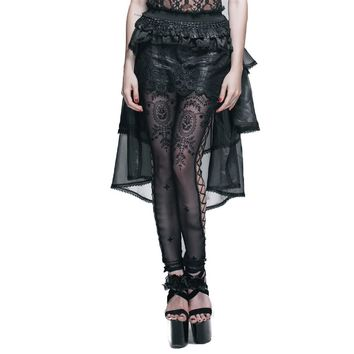 Steampunk Women Gauze Lace Skirts Gothic Lolita Multi-layer