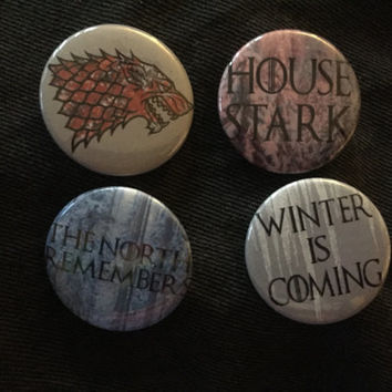 Game of Thrones House Stark Button Set