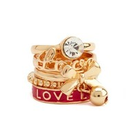 """""""Love"""" Stackable Ring Set: Charlotte Russe"""