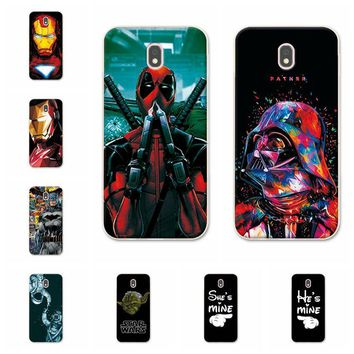 Charming Deadpool Cases For Samsung Galaxy J5 2017 iron Man Phone Case Capa For Samsung J530 J530F (EU Version) Back Cover Capa
