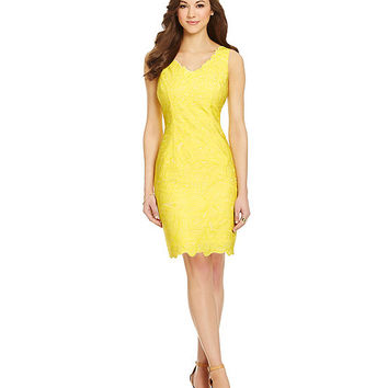 Antonio Melani Playing Favorites Aliyah Scalloped Crepe Dress | Dillards