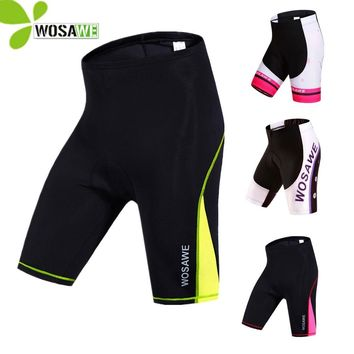 WOSAWE summer Cycling Shorts Women's Compression Riding Bike Tights Bicycle 4D Gel Padded Downhill Ciclismo bicycle MTB Shorts