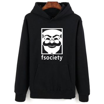 LUCKYFRIDAYF Mr Robot Hoodie Sweatshirt Fsociety Harajuku Men Hoodies Mr.Robot Funny Game Style For Young People Sweatshirt