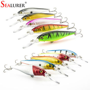 SEALURER Minnow 10g 11cm Hard Bait 10pcs Fishing Lure With Sharp Hooks Fly Fishing Bait Carp Fishing Tackle Artificial Lure