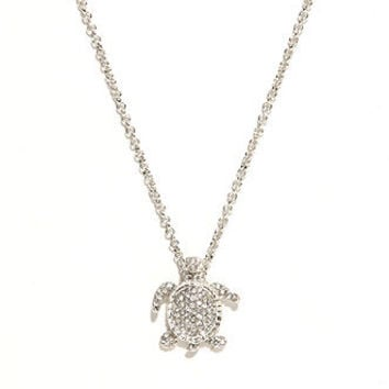 With Love From CA Tiny Pave Turtle Necklace at PacSun.com