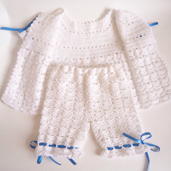 Christening set Baptism Set Christening dress boy or girl christening gown Baptism dresses Christening outfits Boy dress Crochet baby