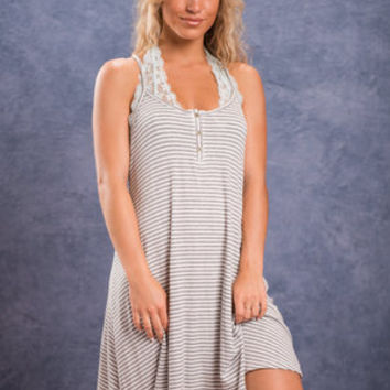 The New Girl Dress, Heather Gray