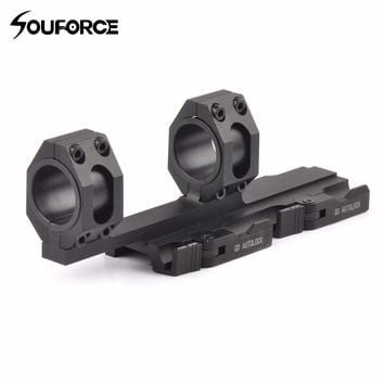 Tactical Quick Detach Cantilever Scope Ring Mount 25mm-30mm Dual Ring 20mm Rail Auto Lock Heavy Duty Rifle Scope Mount