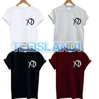 xo t shirt breast logo drake beyonce the weeknd fresh lil wayne unisex dope swag tour music yonce