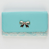 Bow Lace Overlay Wallet 212033523 | Wallets