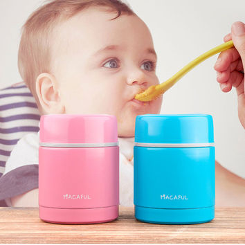 Japanese Stainless Steel Thermos Lunch Box Vacuum Insulated Food Container Children Food Box Lunchbox For Soup 300ml
