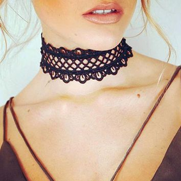 Gothic Terylene Choker Necklace Love Heart Crystal Pendant Sailor Moon Woman Girl Jewelry Fashion Necklaces One Direction x143hu