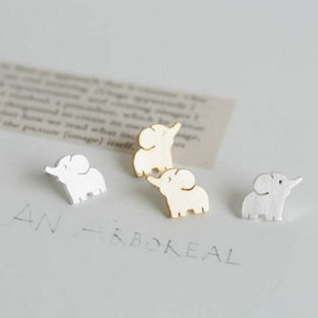 Cute Tiny Elephant Earrings