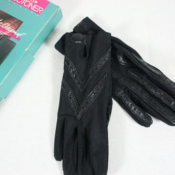 Vintage Ladies Isotoner Gloves Black
