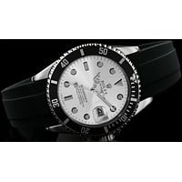 Rolex  tide brand fashion men's automatic watch F-SBHY-WSL Black case + silver letter + silver dial