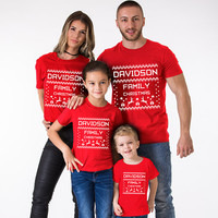 Christmas Shirts, Christmas Family Shirts, Family Christmas Shirts, Matching Christmas Shirts, Custom Name Family Christmas Shirts