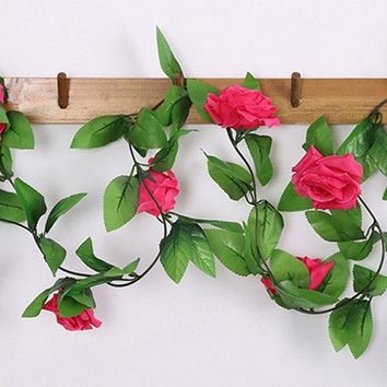 Hot Sale Room Decoration Simulation Silk Rose Vine