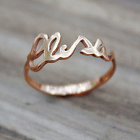 Customized, Handwritten Silver Ring