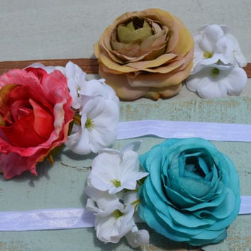 Floral Headbands/ Flower Girl/ Wedding/ Bridal Party/ Pageant/ Elegant/ Maternity
