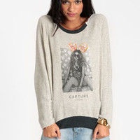 Donut Girl Shredded Sweater by Capture - $104.00 : ThreadSence, Women's Indie & Bohemian Clothing, Dresses, & Accessories