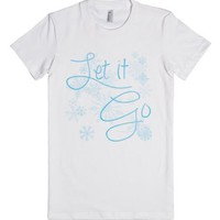 Let it Go-Female White T-Shirt